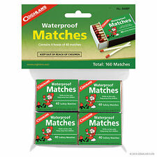 Waterproof Matches, ONE Pack (4 Boxes) for Campfires, Grills, Household #940BP