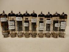 Amperex and Other 6CW5 Vacuum Tubes (9) Measuring 90-100% Gm Amplitrex