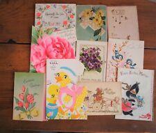 Vintage Easter Greeting Cards Postcards Set 10 Easter Bunny Chicks Nana Hallmark