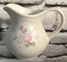"""Pfaltzgraff Stoneware Tea Rose Creamer or Syrup 4.5"""" Cream with Pink Tea Roses"""