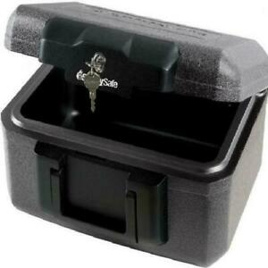 Fire Chest Fireproof Lock Box Hidden Money Cash Document Media Safe Black
