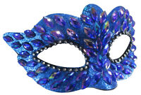 Iridescent Jeweled Rhinestone Gems Glitter Masquerade Festival Costume Eye Mask