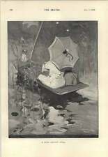 1895 PROVE DI GOLF novizio miserabile Caddie Bank Holiday Idyll Dudley Hardy
