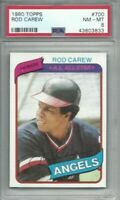 1980 Topps baseball card #700 Rod Carew, California Angels graded PSA 8