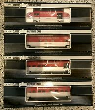 4 K-Line Trains KCC Golden State Extruded Steel Heavyweight Passenger Cars K4632