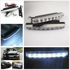 2 Pcs DC 12V 8LED Auto Daytime Lights Fog Driving White Lamps For SUV Off-road