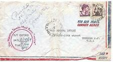 Italy  To  New Jersey,USA By Messina Staits Mail Buoy Service  S/S Exford  1964
