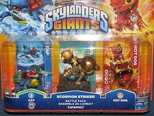 Skylanders Giants - Triple Character Battle Pack - Zap Scorpion Striker Hot Dog
