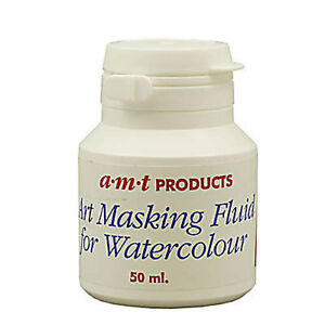 AMT Artists Art Masking Fluid for Drawing, Ink & Watercolour Painting 50 ml