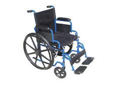 Drive Medical Blue Streak Wheelchair w/Flip Back Desk Arms & Swing Away Footrest