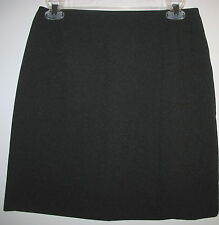 CASUAL CORNER- BLACK LINED STRAIGHT WOOL SKIRT- SIZE 8
