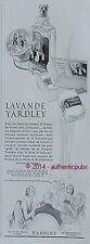 PUBLICITE PARFUM LAVANDE YARDLEY SAVON JEU DE CARTES BRIDGE ART DECO DE 1932 AD