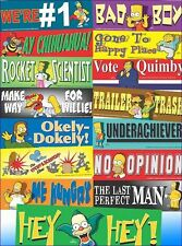 Lot of 90 Pieces - Assorted Simpson's Bumper Stickers + Free Shipping