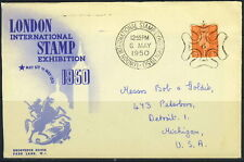 GB 1950 LONDON INT'L STAMP EXHIBITION COVER TO U.S.