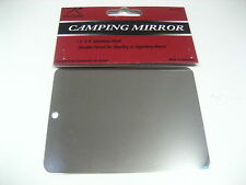 Camping Mirror Unbreakable Stainless Steel Emergency Survival Signal Mirror Camp