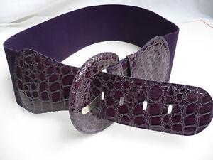 Women Fashion Cute Belt Stretch Hip Elastic High Waist Hip Purple Color XS S M