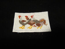 MINIATURE RUG WITH THREE COLORFUL CHICKENS   MINIATURE DOLLHOUSE