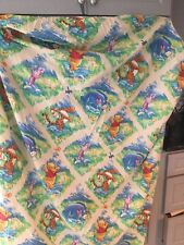 Vintage Disney Winnie The Pooh & Friends Twin Fitted Sheet