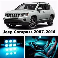 10pcs LED ICE Blue Light Interior Package Kit for Jeep Compass 2007-2016