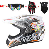 Motorcross Dirt Bike ATV Off Road MTB Motorcycle Helmet Racing Full Face White