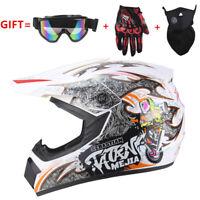 Motorcross Dirt Bike ATV Off Road MTB Motorcycle Helmet Racing Full Face White