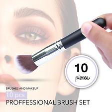 make up brushes Set Powder Foundation Contour Kit Makeup 10Pcs