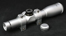 Hammers Elite Long Eye Relief Revolver Pistol Scope 2X20 Stainless Silver Chrome