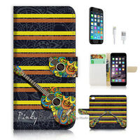 ( For iPhone 7 ) Wallet Case Cover P1295 Guitar