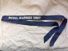 Original British Royal Naval Royal Marines Unit Cap Tally - Genuine Issue