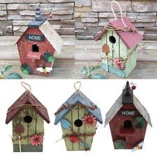 3 x Garden Nursery Hanging Decor Decorative Bird Nest Outdoor Roof Birdhouse