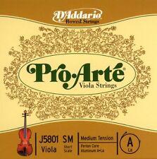 D'Addario Pro-Arte Viola Single A String, Short Scale, Medium Tension