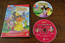 LOT of 2 DVDs DORA the EXPLORER Fairytale Adventure PRECIOUS PLACES Fisher Price