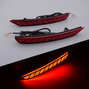 2Pcs Rear Bumper Tail Light Driving Brake Lamp Fit For Subaru Forester 08-18 ABS