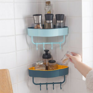 Bathroom Accessories Shelves Shelf Storage Rack Punch-Free Shower Kitchen AcceTA