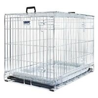 Dog Residence Cage With Plush Soft Cushion - S/M/L/XL