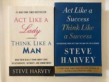 Act Like A Lady Think Like A Man + Act Like A Success 2 Books by Steve Harvey