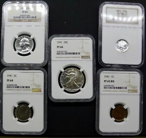 1941 COMPLETE  NGC PROOF SET. PLEASE LOOK AT PHOTOS AND READ DESCRIPTION.