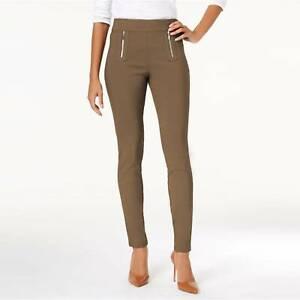 INC INTERNATIONAL CONCEPTS Size 8 Regular Fit Skinny Pants SALTY NUT