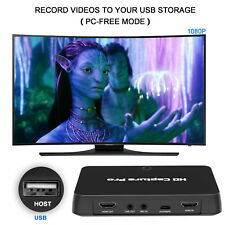 HDMI Video Capture Card 1080p HD Game Recorder with Playback/Schedule Recording