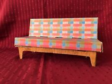 Barbie's 1961 Furniture from Dream House Cardboard Vintage Excellent Couch Plaid