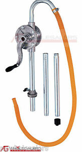 Aluminium Alloy Hand Rotary Pump Petrol Oil Diesel Kerosene Fuel Drum 44 Gallon