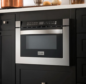 """ZLINE 24"""" 1.2 cu. ft. Microwave Drawer in Stainless & Black Stainless (MC)"""
