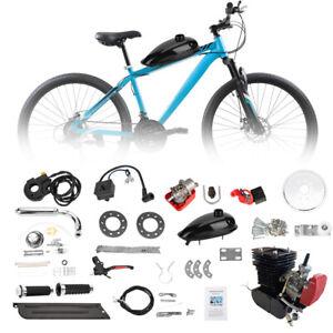 110cc Bicycle Motor Kit 2 Stroke Bike Motorized Petrol Gas Engine Full Set Black