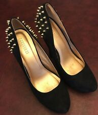 9 Forever 21 Gold Stud Black High Heel Shoes