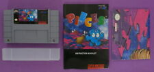 Pieces (Super Nintendo, 1994) with Poster & Instruction Booklet
