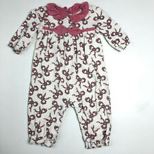 Janie and Jack Girls 6 12 Months Tiny Bow Floral Romer One Piece Tiny Lamb