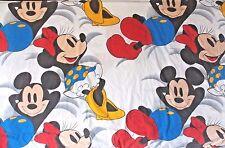 Vtg Mickey/Minnie Mouse Flat Twin Sheet Large Disney Graphics Wamsutta Made Usa