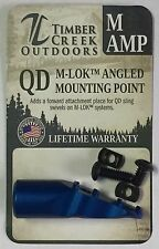 TIMBER CREEK OUTDOORS M-LOK ANGLED MOUNTING POINT BLUE