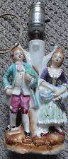 Lamp Victorian man and lady figures on the lamp  Japan  vintage