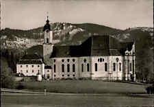 Kirchen Motiv-Postkarte Wallfahrtskirche Zum gegeißelten Heiland Die Wies ~1960